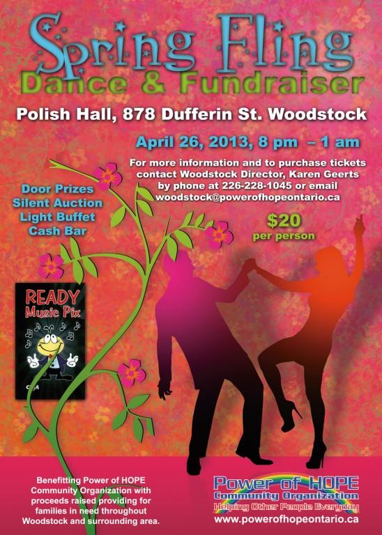 Power of HOPE Woodstock Spring Fling postcard front