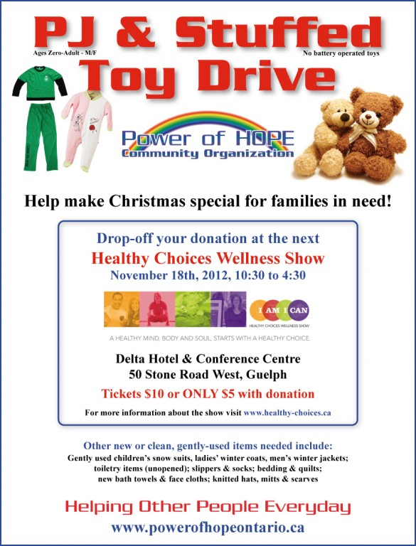 PJ and Stuffed Toy Drive - Healthy Choices Wellness Show